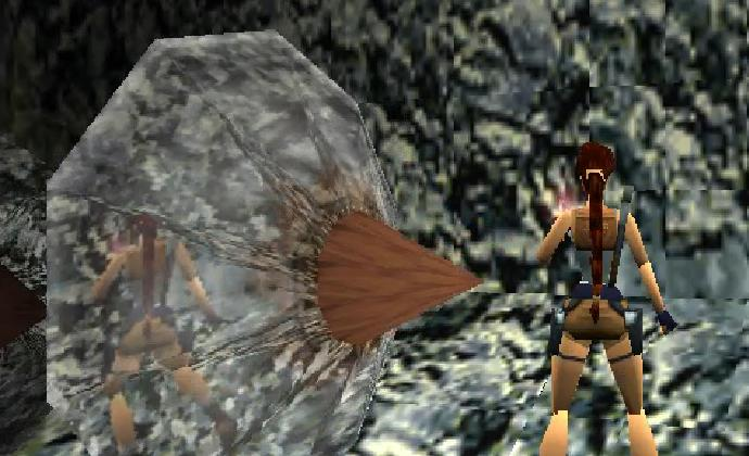TR2 on Psx : The Great Wall level